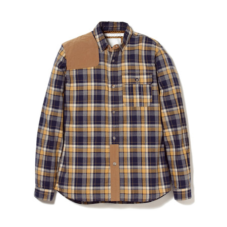 COTTON HERRINGBONE CHECK HUNTING SHIRT