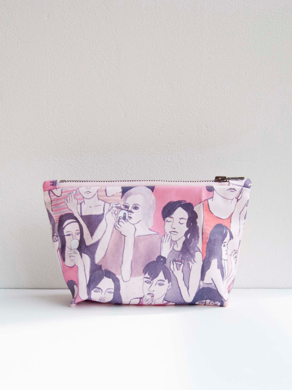 Makeup Bag Small by leahgoren on Etsy