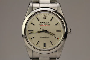 Vintage Rolex Milgauss Automatic Silver Dial Watch Ref 1019 Circa 1960s | eBay