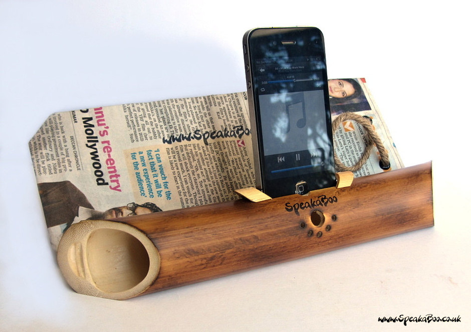Handcrafted acoustic bamboo speaker amplifier for by SpeakaBoo1