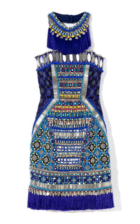 Embroidered Corset Dress by Matthew Williamson Now Available on Moda Operandi