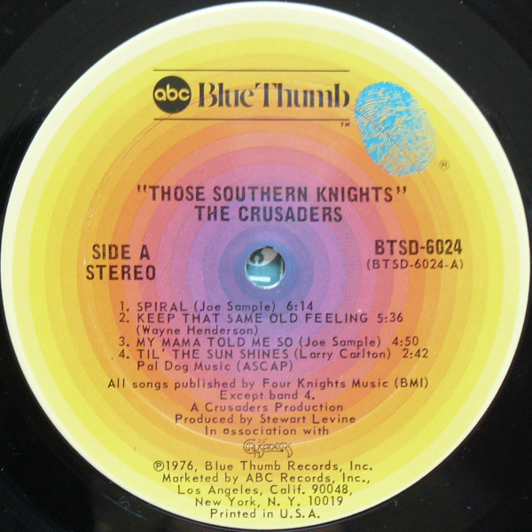 The Crusaders - Those Southern Knights (Vinyl, LP, Album) at Discogs