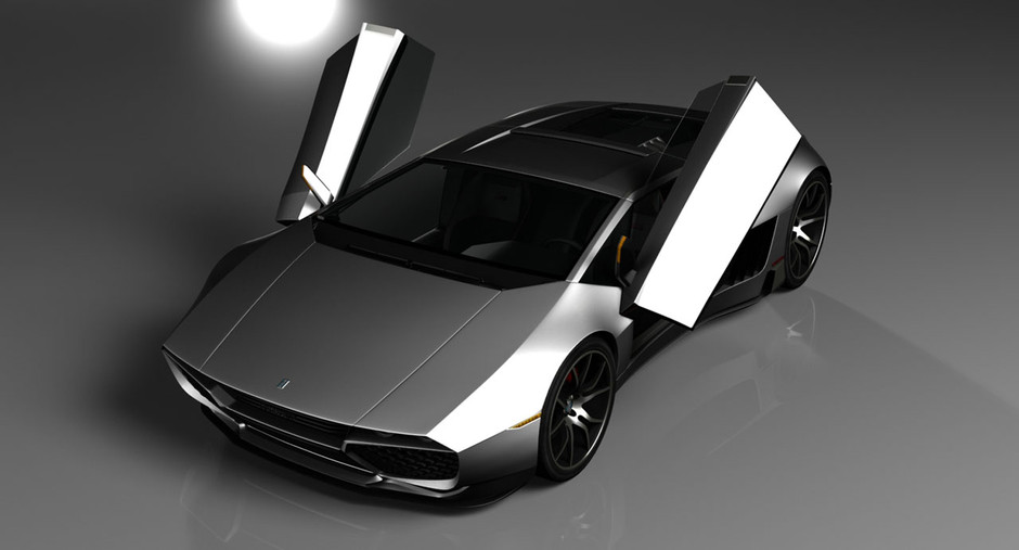 Mangusta Legacy Concept - Car Body Design