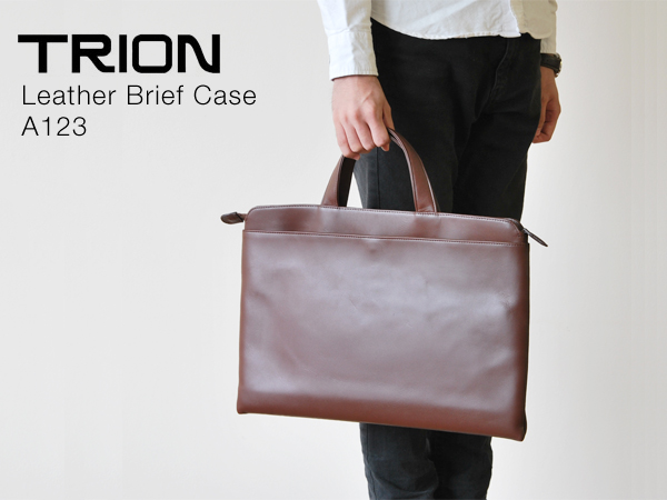 TRION Leather Brief Case A123 - トライオン レザーブリーフバッグ A123