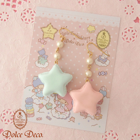 Little Twin Stars×Dolce Deco ララが作った星スイーツ 星マカロンのピアス・イヤリング | Dolce Deco