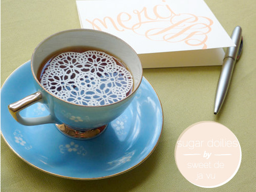 edible sugar doilies | going home to roost