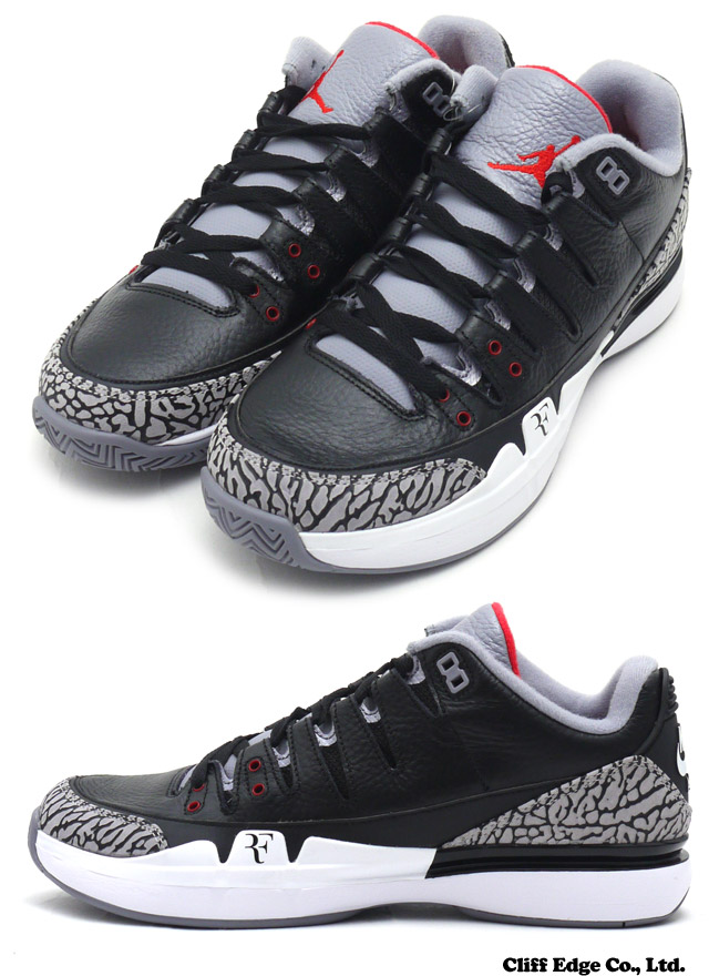 """Is the NikeCourt Zoom Vapor AJ3 Getting A """"Black Cement"""" Colorway? - Sneaker Report"""