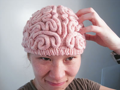 ANNABANANNA Made to ORDER Knitted BRAIN Beanie hat by Anabananna