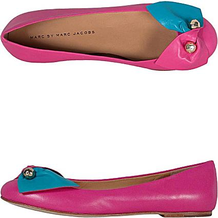 Marc Jacobs women's shoes, Code: 605113, Main color:fuchsia, Materials:leather, metal