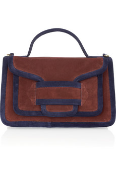 Pierre Hardy? ?Two-tone suede tote? ?NET-A-PORTER.COM