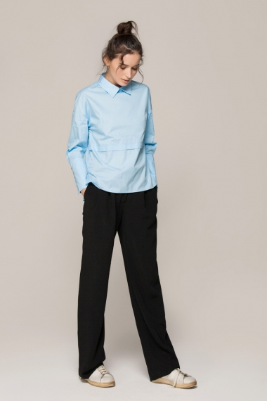 Blue pullover shirt - FrontRowShop