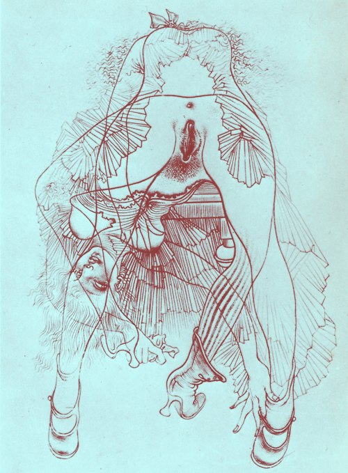 foxes in breeches - Hans Bellmer, Untitled, 1946-1947 - From the...