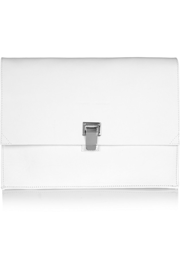 Proenza Schouler|The Lunch Bag large leather clutch|NET-A-PORTER.COM