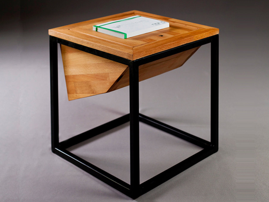 solid panel wood coffee table with a metal by nordarchitectdesign
