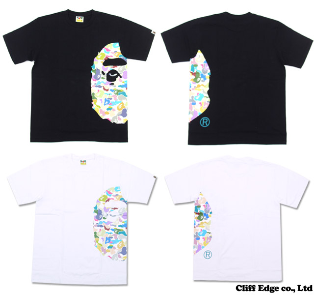 【楽天市場】A BATHING APE MULTI CAMO BIG APE HEAD TEE [Tシャツ] 200-005303-050[1020-110-119]-【新品】:Cliff Edge