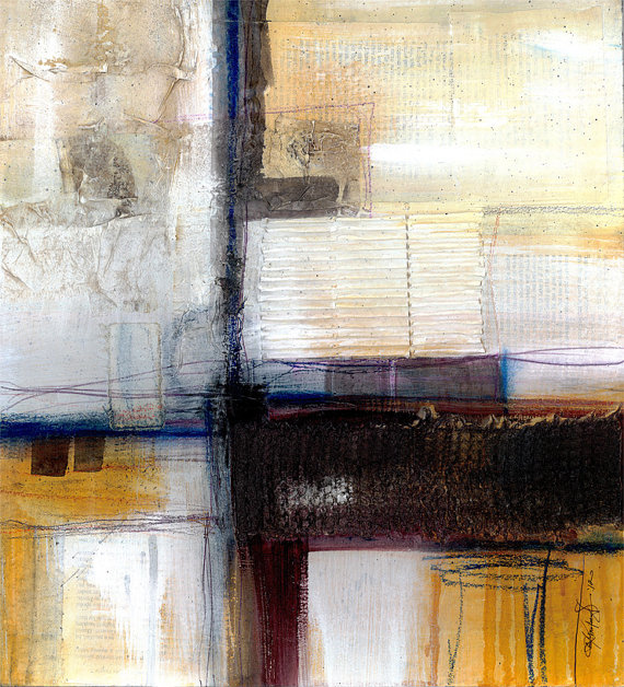 Beauteous No 10 Large Original Contemporary by KathyMortonStanion