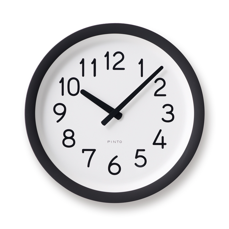 Day To Day Clock (PIL12-10 BW) | DESIGN OBJECTS | PINTO | TAKATA Lemnos online shop