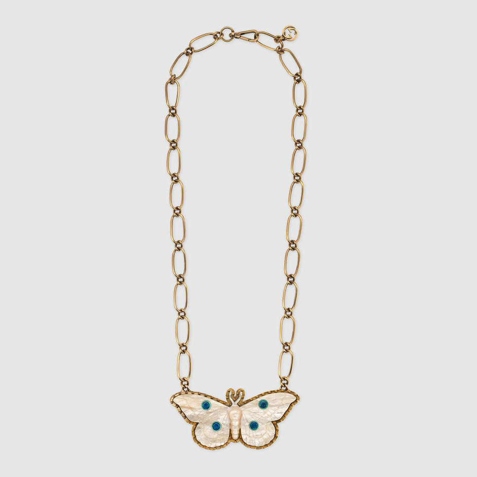 Moth pendant necklace - Gucci For Women 489297I42448076