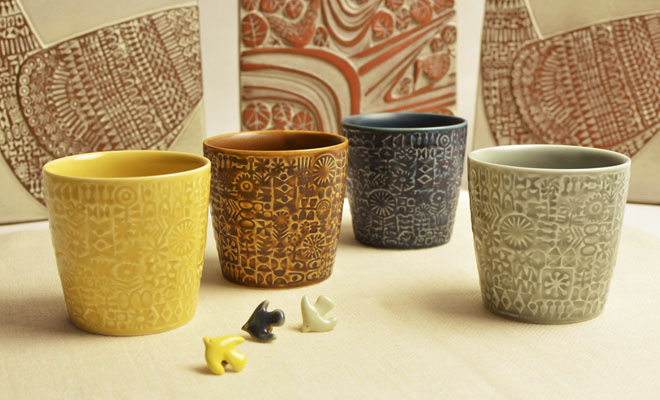 BIRDS' WORDS バーズワーズ/「PATTERNED CUP」カップ(4種)