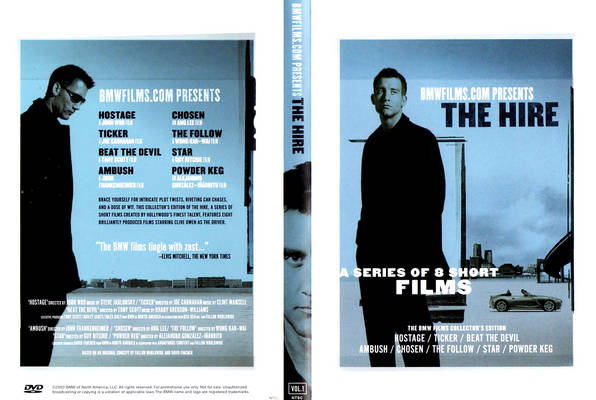 The BMW Films - THE HIRE Full DVD9 UNTOUCHED with extras ( RARE ) - tehPARADOX