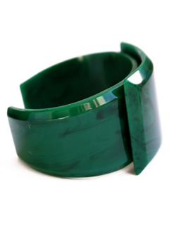 LOVE online store|WOMEN Artificical Marble small Bangle (green)