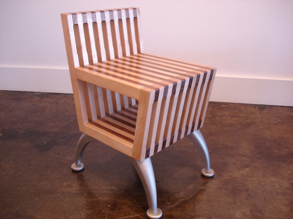 Custom Made Small Chair With Under Storage by Hadquarters   CustomMade.com