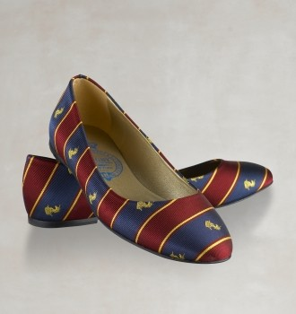 Wear This Or Something Like It Fall 2010 / Striped silk ballet flats from Rugby Ralph Lauren.