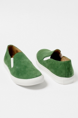 Green Slip-On Shoes CDG X The Generic Man Collaboration - wrongweather