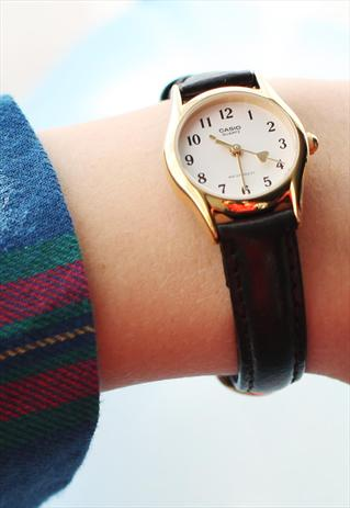 Casio Heart Hand Leather Watch | THE WHITEPEPPER | ASOS Marketplace