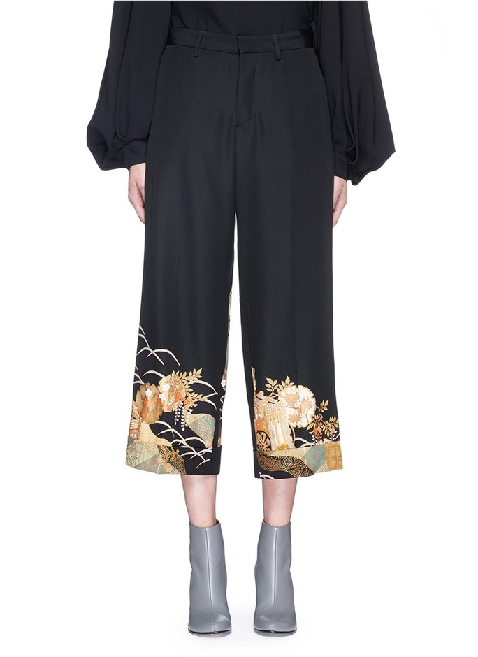 competitive price 8bc74 7ed03 IBRIGU : One of a kind kimono embroidery hem pants | Sumally ...