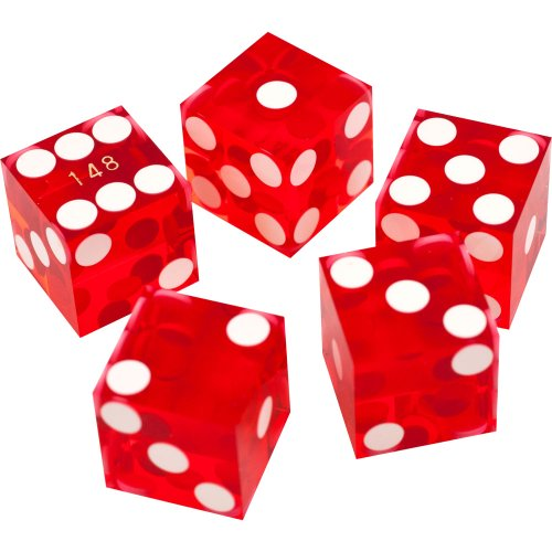 Amazon.com: Trademark Poker 19mm A Grade Serialized Set of Casino Dice (Red): Sports & Outdoors