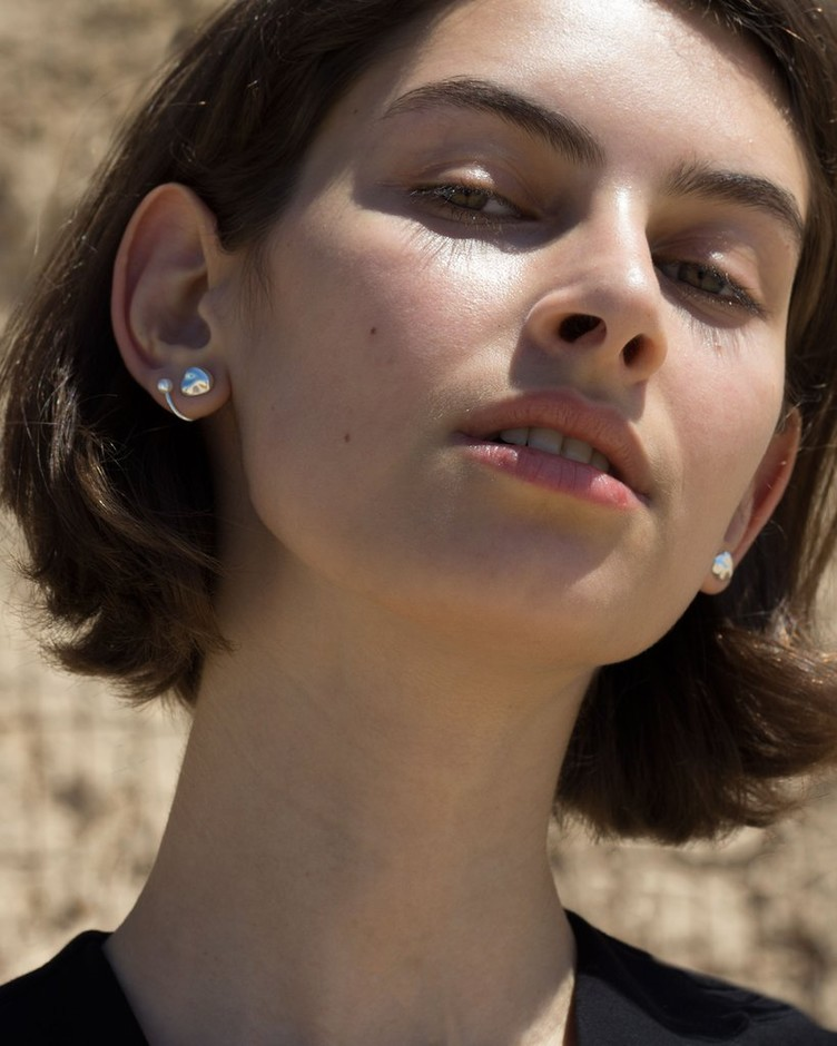 Twin Pearl Earring | Knobbly