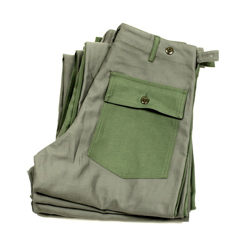 NEPENTHES / Engineered Garments Workaday / Fatigue Pants - Combo / Olive×Grey | STARLING online store