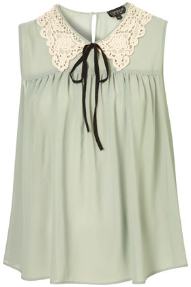 Sleeveless Crochet Collar Top - New In This Week - New In - Topshop
