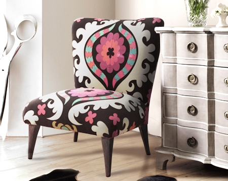 Retro To Go: Suzani Fabric Upholstered Chair