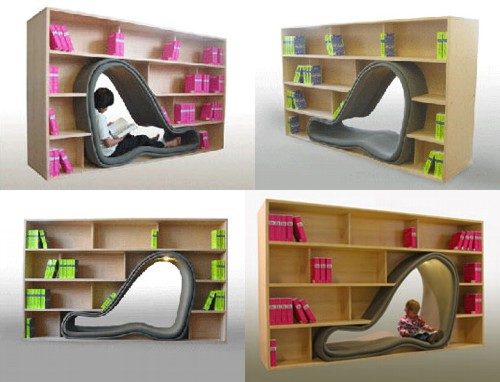 Cave Bookcase/Chair - Late Mag