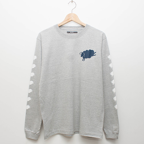 7 Sheeps L/S - Grey - cup and cone WEB STORE