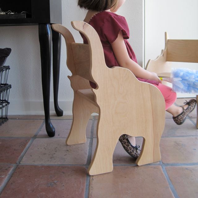 Elephant Chair from The Child's Menagerie by palomasnest on Etsy