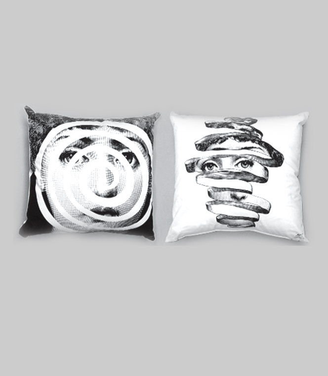 Milk Concept Boutique :: FORNASETTI :: Cushions :: FORNASETTI CUSHION - Spiral In Mind