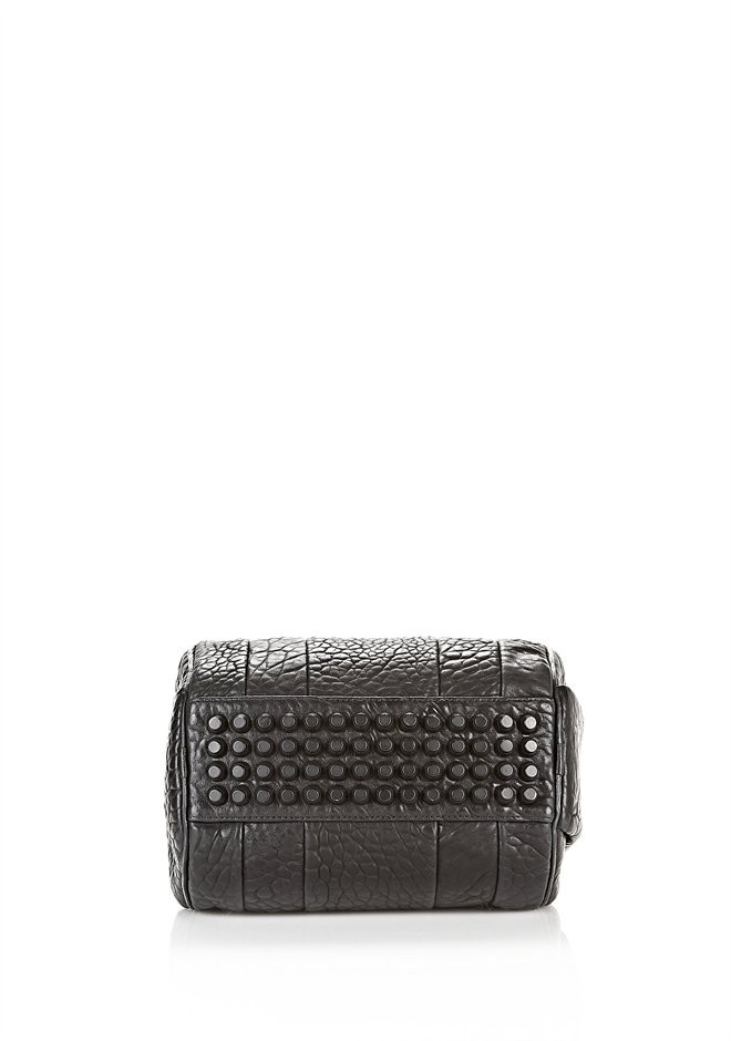 Black Rockie In Pebbled Black With Matte Black - Alexander Wang