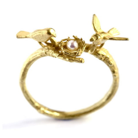Alex Monroe: Birds & Nest Ring
