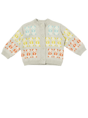 BONNIE BABY: PANDA cotton/cashmere baby and child jacket. Available in 3 colour and in sizes up to 5 years
