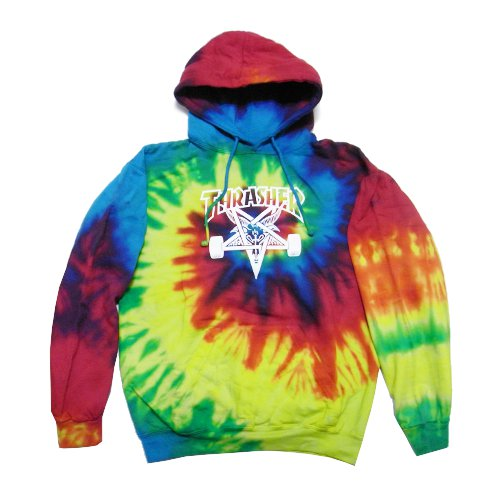 THRASHER - Tie-Dye Skategoat Hoodie (Tie Dye) - Growth skateboard elements 81de0b5fe04c