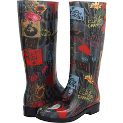 Vivienne Westwood Wellington Boot Collage Print - Zappos Couture