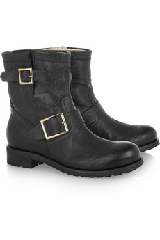 Jimmy Choo | Youth leather biker boots | NET-A-PORTER.COM