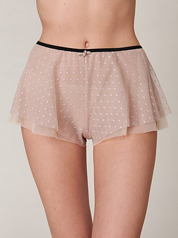 Intimately FP Delphine Spot Mesh Bloomer at Free People Clothing Boutique