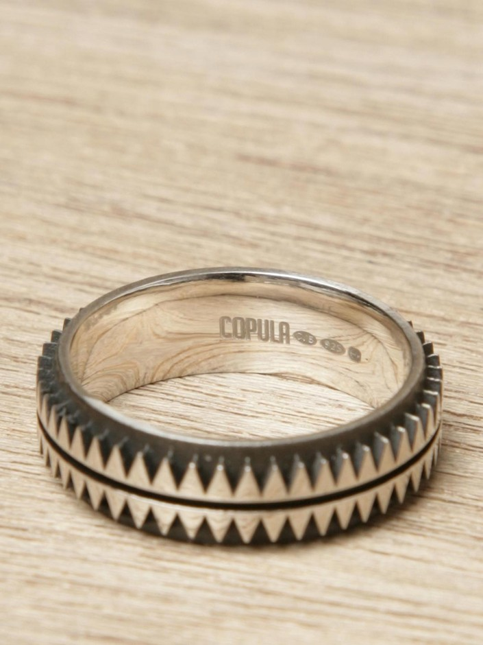 Copula Mens Exclusive Sterling Silver Aztec Ring | LN-CC