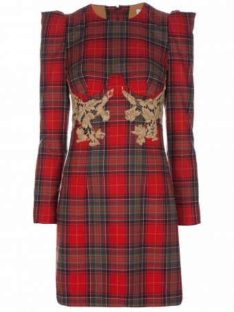 【LASO ラソ】2011A/W新作【円高還元 CARVEN】Plaid dress Red and green カルバン