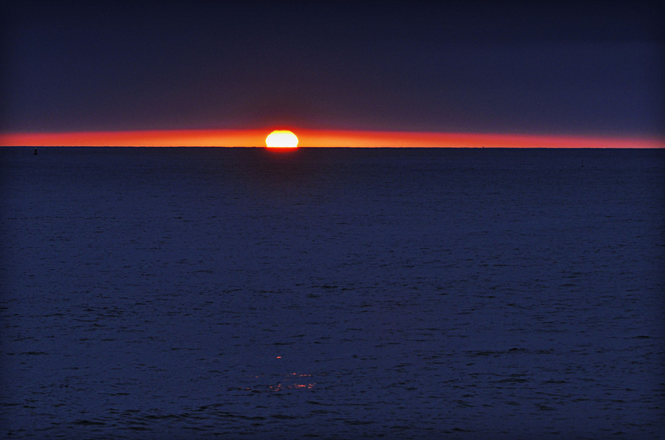 500px / Sun Peers Out Before Sunset in Oceanside - July 1, 2012 by Rich Cruse