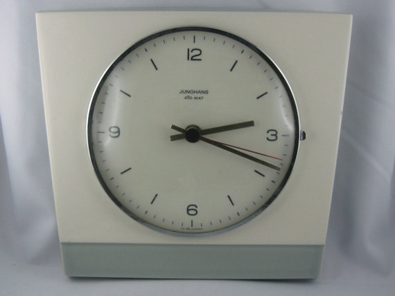 Etsy Transaction - 60s design: Original JUNGHANS ATO-MAT kitchen clock / wall clock made of ceramic. Made in Germany. Vintage